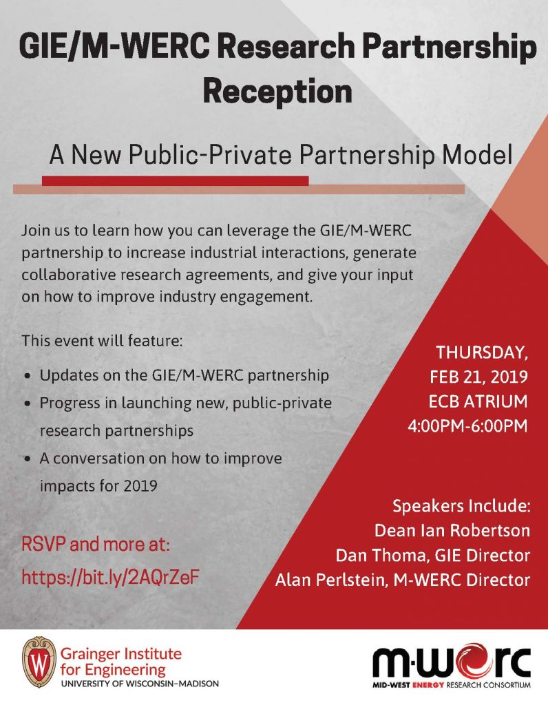 University Of Wisconsin Leverages Its >> Gie M Werc Research Partnership Reception Grainger Institute For