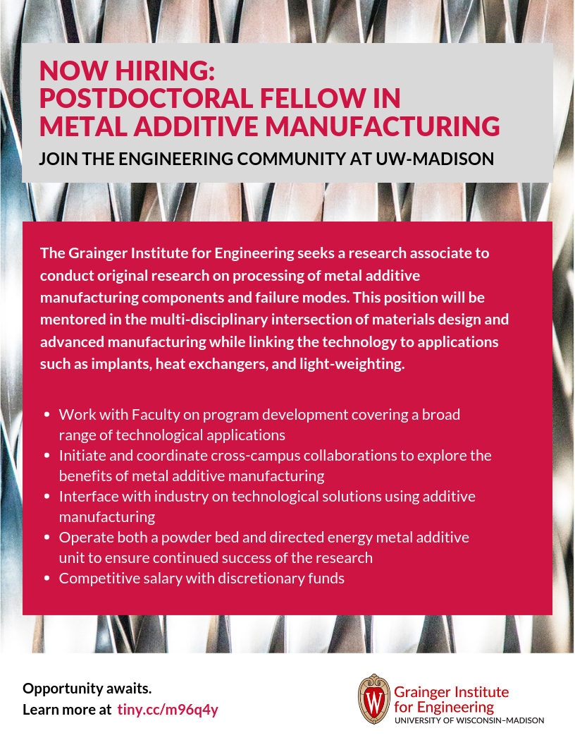 Grainger Distinguished Postdoctoral Research Fellowship in Metal